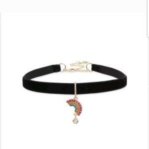 BETSEY JOHNSON Rainbow CHOKER NECKLACE